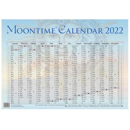 Moon time Calendar 2022